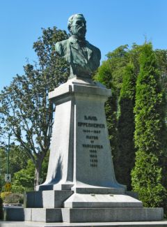 David Oppenheimer-Statue im Stanley Park in Vancouver