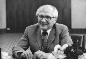 Erich Honecker beim Interview 1986