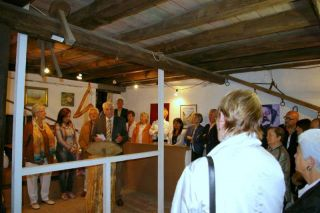Manfred Ludwig bei der Vernissage